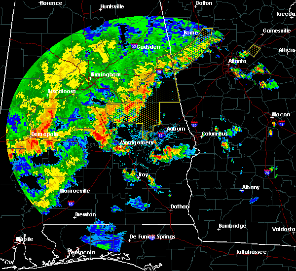 Radar Image for Severe Thunderstorms near Delta, AL at 6/15/2017 4:39 PM CDT