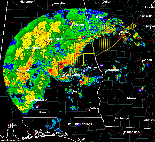 Radar Image for Severe Thunderstorms near Delta, AL at 6/15/2017 4:55 PM CDT
