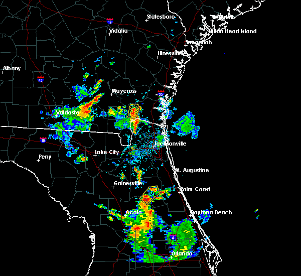 Radar Image for Severe Thunderstorms near Welaka, FL at 6/15/2017 5:56 PM EDT