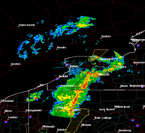 Radar Image for Severe Thunderstorms near Clarkson, NY at 6/15/2017 6:06 PM EDT