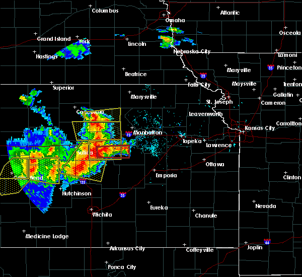 Radar Image for Severe Thunderstorms near White City, KS at 6/15/2017 5:46 PM CDT