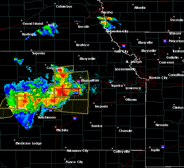 Radar Image for Severe Thunderstorms near White City, KS at 6/15/2017 5:56 PM CDT