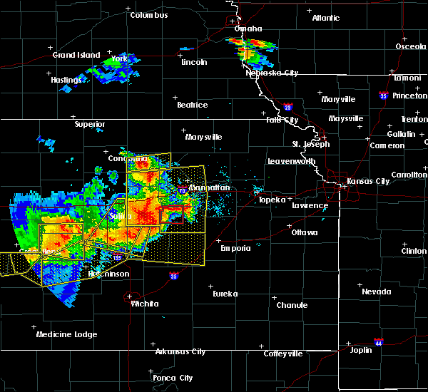 Radar Image for Severe Thunderstorms near White City, KS at 6/15/2017 6:06 PM CDT