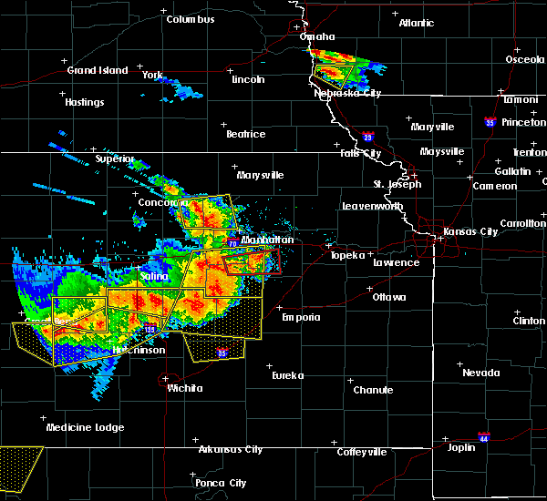 Radar Image for Severe Thunderstorms near White City, KS at 6/15/2017 6:23 PM CDT