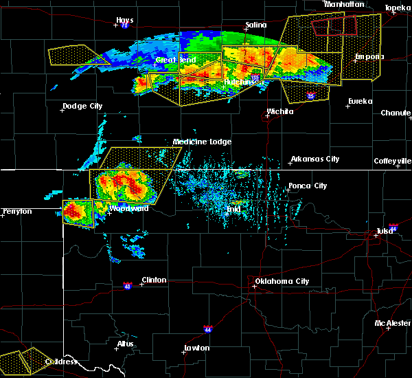 Radar Image for Severe Thunderstorms near Coldwater, KS at 6/15/2017 6:27 PM CDT