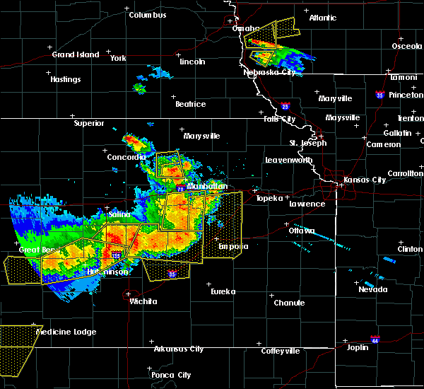Radar Image for Severe Thunderstorms near White City, KS at 6/15/2017 6:41 PM CDT