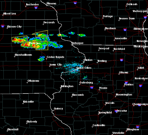 Radar Image for Severe Thunderstorms near Rowley, IA at 6/15/2017 7:21 PM CDT