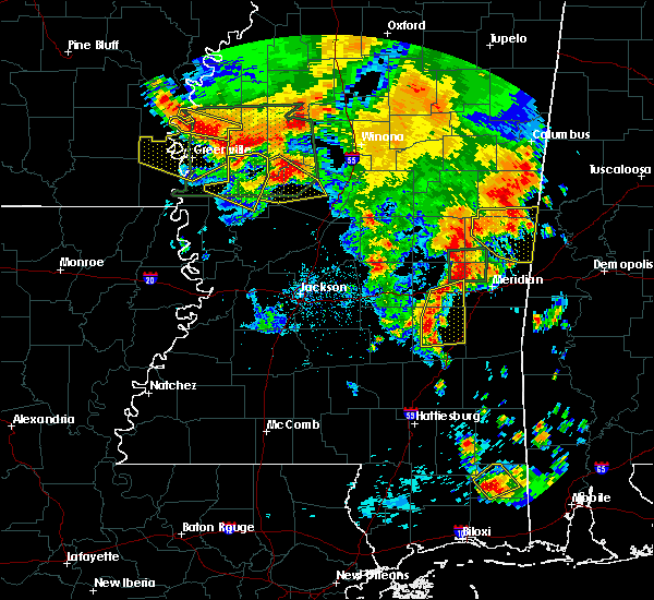 Radar Image for Severe Thunderstorms near Bay Springs, MS at 6/16/2017 6:17 PM CDT