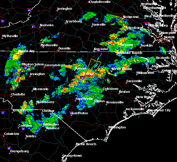 Radar Image for Severe Thunderstorms near Kittrell, NC at 6/16/2017 8:16 PM EDT