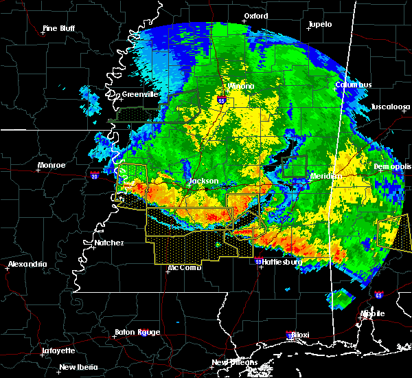 Radar Image for Severe Thunderstorms near Prentiss, MS at 6/16/2017 8:57 PM CDT