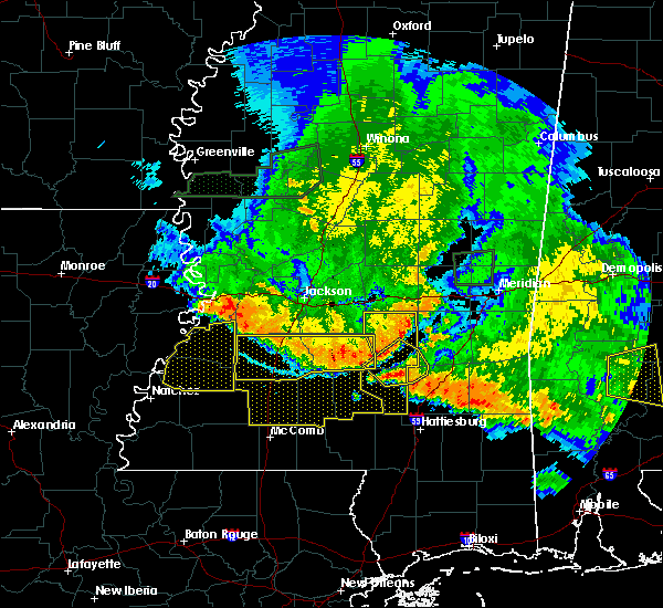 Radar Image for Severe Thunderstorms near Fayette, MS at 6/16/2017 9:03 PM CDT