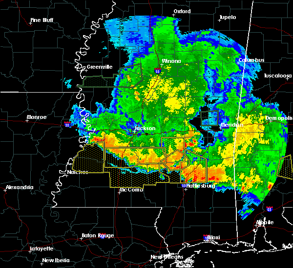 Radar Image for Severe Thunderstorms near Heidelberg, MS at 6/16/2017 9:13 PM CDT
