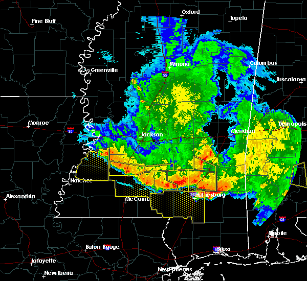 Radar Image for Severe Thunderstorms near Fayette, MS at 6/16/2017 9:29 PM CDT