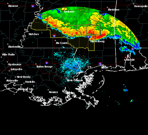 Radar Image for Severe Thunderstorms near Arnold Line, MS at 6/16/2017 9:38 PM CDT