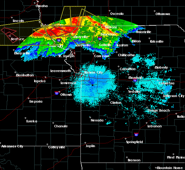 Radar Image for Severe Thunderstorms near Arkoe, MO at 6/16/2017 9:44 PM CDT