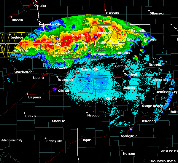 Radar Image for Severe Thunderstorms near Huron, KS at 6/16/2017 10:42 PM CDT
