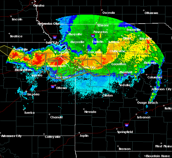 Radar Image for Severe Thunderstorms near Sibley, MO at 6/17/2017 12:06 AM CDT