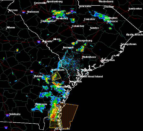 Radar Image for Severe Thunderstorms near Pembroke, GA at 6/17/2017 6:27 PM EDT