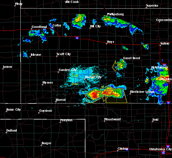 Radar Image for Severe Thunderstorms near Protection, KS at 6/17/2017 9:44 PM CDT