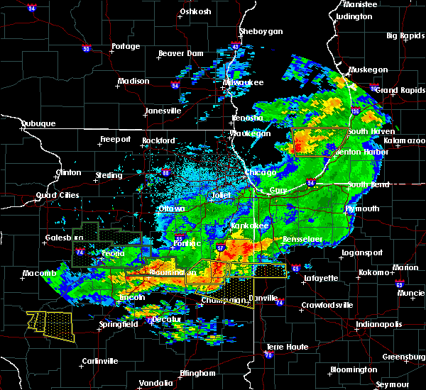 Radar Image for Severe Thunderstorms near Otterbein, IN at 6/17/2017 11:18 PM EDT