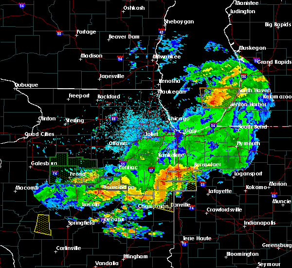 Radar Image for Severe Thunderstorms near Otterbein, IN at 6/17/2017 11:37 PM EDT