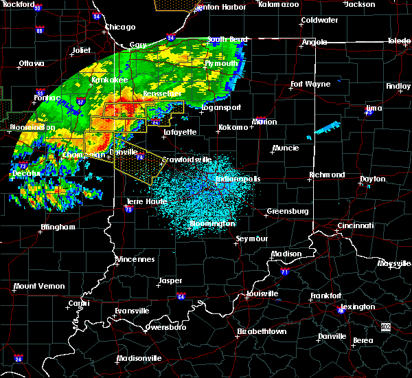 Radar Image for Severe Thunderstorms near New Market, IN at 6/17/2017 11:43 PM EDT