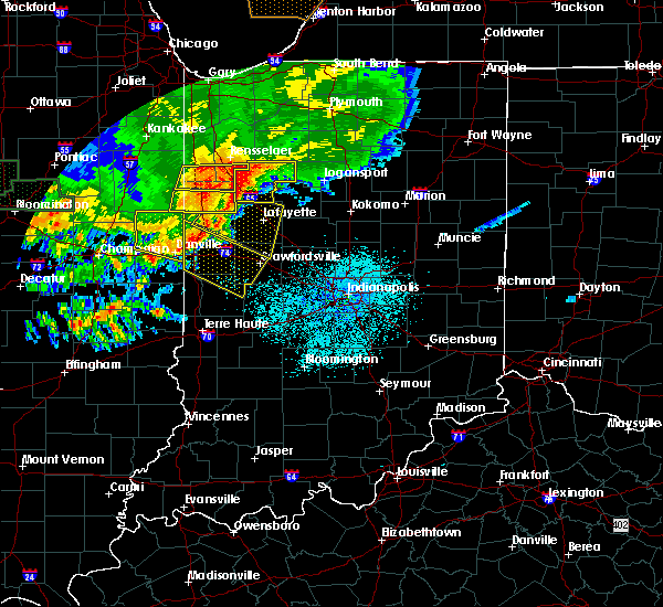 Radar Image for Severe Thunderstorms near Stockwell, IN at 6/17/2017 11:59 PM EDT