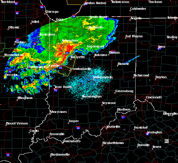 Radar Image for Severe Thunderstorms near Crawfordsville, IN at 6/18/2017 12:09 AM EDT