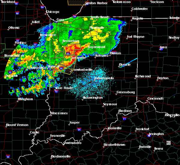 Radar Image for Severe Thunderstorms near Otterbein, IN at 6/18/2017 12:31 AM EDT