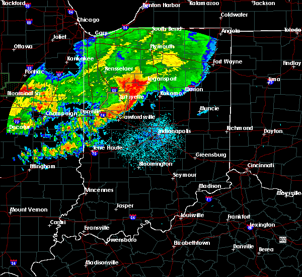 Radar Image for Severe Thunderstorms near Otterbein, IN at 6/18/2017 12:43 AM EDT
