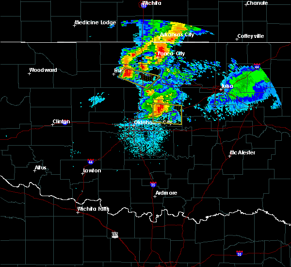 Radar Image for Severe Thunderstorms near Prague, OK at 6/18/2017 5:05 AM CDT