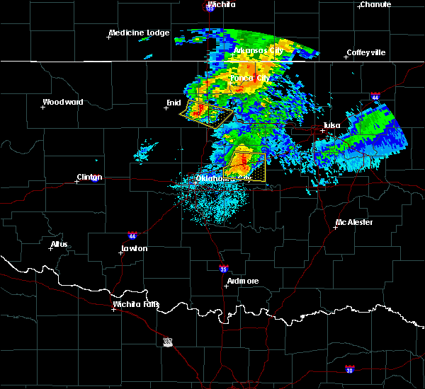 Radar Image for Severe Thunderstorms near Prague, OK at 6/18/2017 5:17 AM CDT