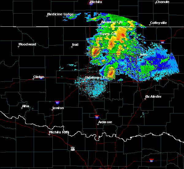 Radar Image for Severe Thunderstorms near Prague, OK at 6/18/2017 5:38 AM CDT