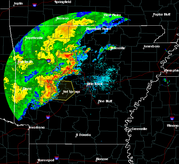 Radar Image for Severe Thunderstorms near Amity, AR at 6/18/2017 11:02 AM CDT