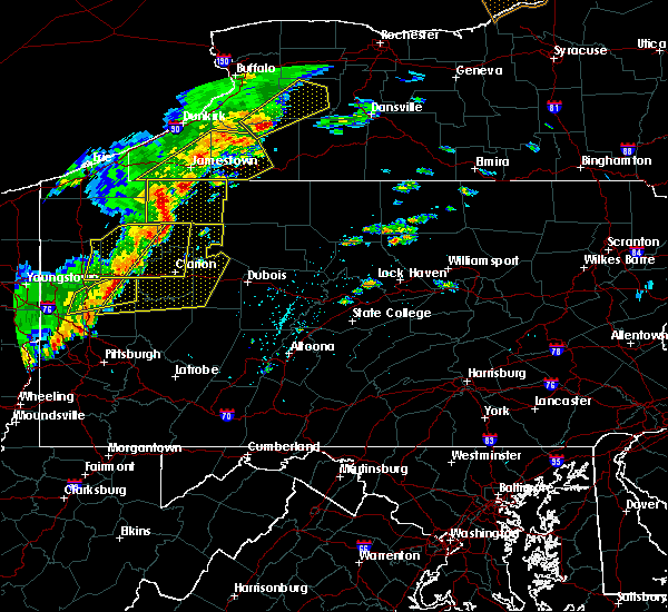 Radar Image for Severe Thunderstorms near New Bethlehem, PA at 6/18/2017 4:01 PM EDT