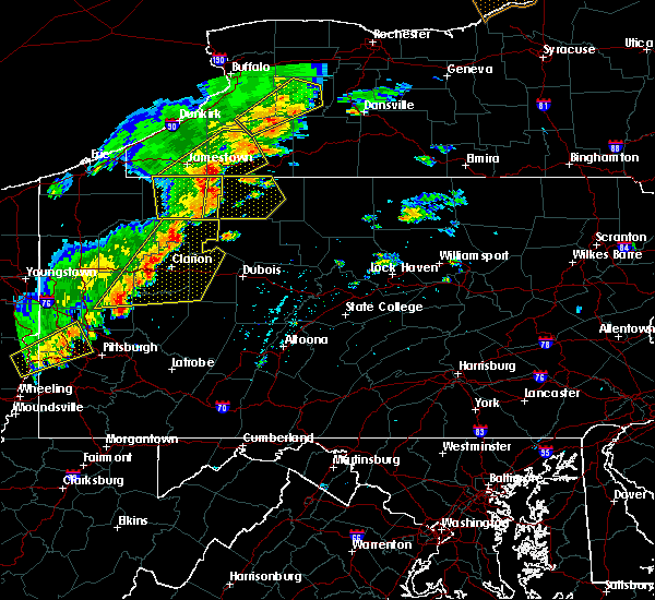 Radar Image for Severe Thunderstorms near Rew, PA at 6/18/2017 4:28 PM EDT
