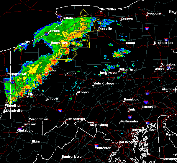 Radar Image for Severe Thunderstorms near Rew, PA at 6/18/2017 4:53 PM EDT