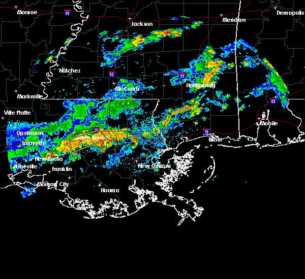 Radar Image for Severe Thunderstorms near Baton Rouge, LA at 6/18/2017 3:57 PM CDT