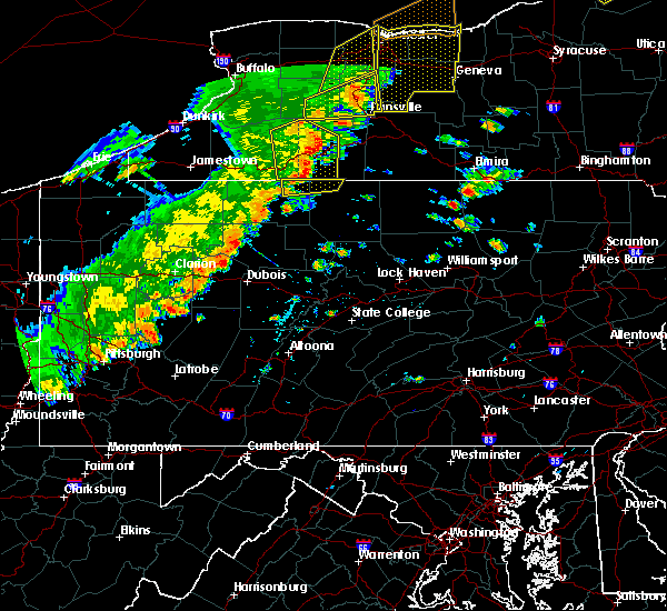 Radar Image for Severe Thunderstorms near Shinglehouse, PA at 6/18/2017 5:27 PM EDT