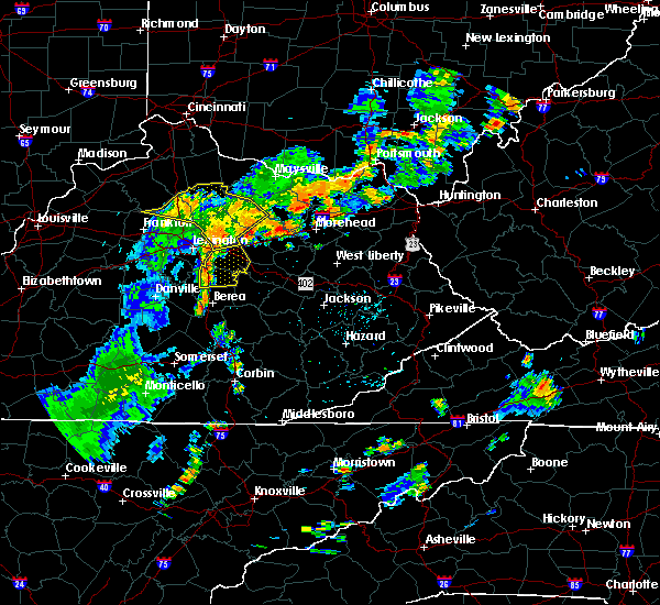 Radar Image for Severe Thunderstorms near Richmond, KY at 6/18/2017 5:43 PM EDT