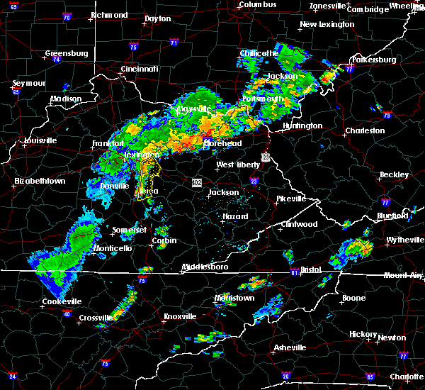 Radar Image for Severe Thunderstorms near Richmond, KY at 6/18/2017 6:11 PM EDT