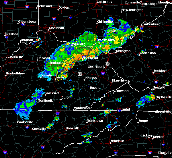 Radar Image for Severe Thunderstorms near Richmond, KY at 6/18/2017 6:27 PM EDT