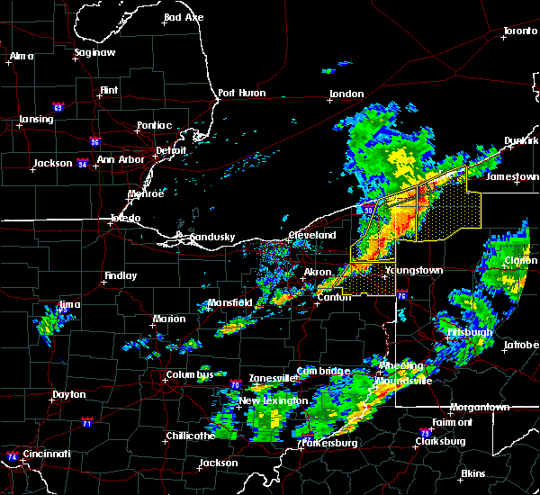Radar Image for Severe Thunderstorms near Roaming Shores, OH at 6/18/2017 6:42 PM EDT
