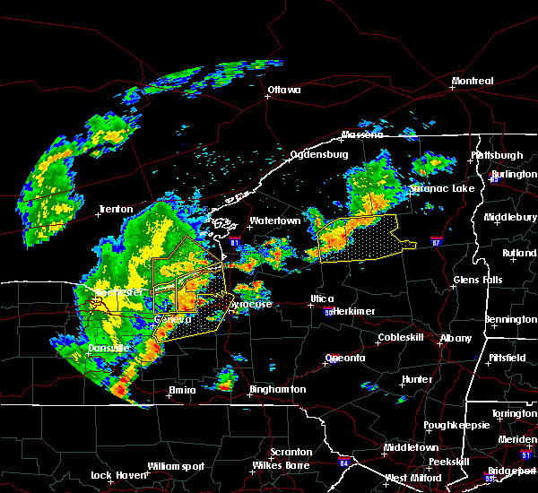 Radar Image for Severe Thunderstorms near Meridian, NY at 6/18/2017 6:57 PM EDT