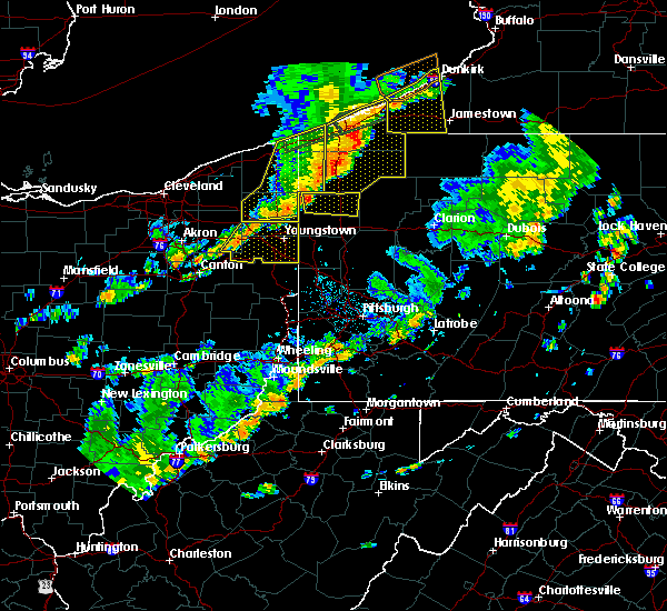 Radar Image for Severe Thunderstorms near Greenville, PA at 6/18/2017 7:01 PM EDT