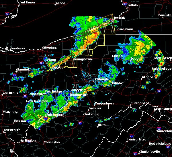 Radar Image for Severe Thunderstorms near Girard, OH at 6/18/2017 7:10 PM EDT