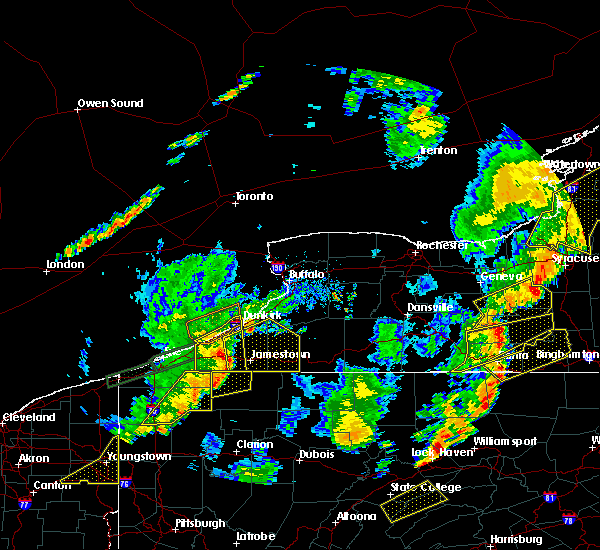 Radar Image for Severe Thunderstorms near Chautauqua, NY at 6/18/2017 7:41 PM EDT