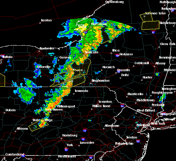Radar Image for Severe Thunderstorms near Cortland West, NY at 6/18/2017 8:00 PM EDT