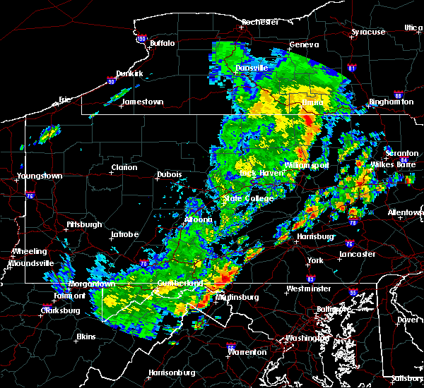 Radar Image for Severe Thunderstorms near Gordon, PA at 6/19/2017 12:22 PM EDT