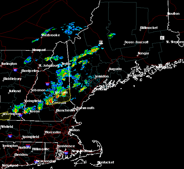 Radar Image for Severe Thunderstorms near Milton, NH at 6/19/2017 1:05 PM EDT